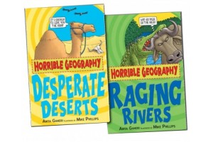 Horrible Geography Collection 2 Books Set - Desperate Deserts and Raging Rivers.