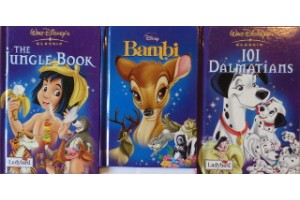 Disney book bundle- Bambi, 101 Dalmatians, The Jungle Book