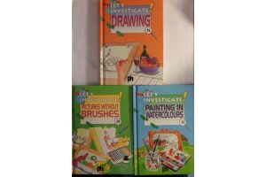 Book bundle - Let's investigate- Painting in Watercolours, Pictures without brushes, Drawing