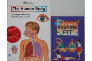 Book Bundle- The Human Body, Let's Investigate Keeping Fit