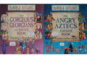 Book bundle - Horrible Histories, The Angry Aztecs, The Gorgeous Georgians