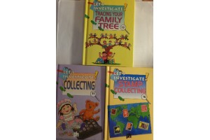 Book bundle - Let's investigate- Collecting, Stamp Collecting,Tracing your family Tree