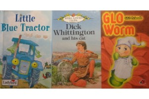 Fairy tales book bundle- 'Little Blue Tractor', 'Dick Whittington and his cat', 'GLO Friends- GLO Worm'